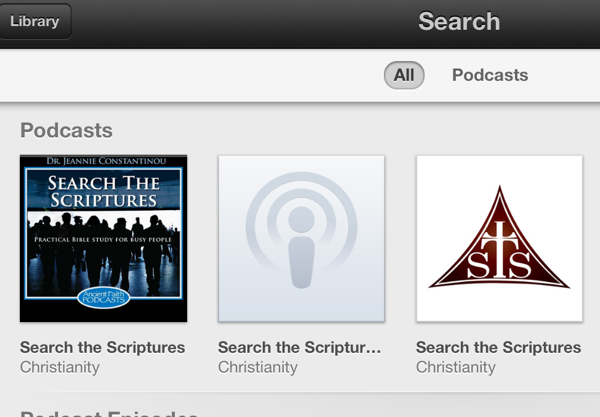 Subscribe to Podcast on iPad 1